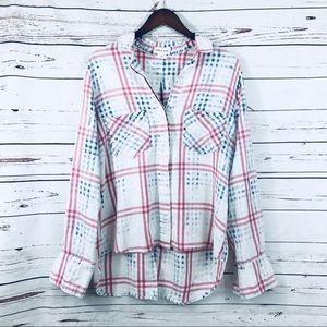 Cloth & Stone plaid tunic shirt Anthropologie